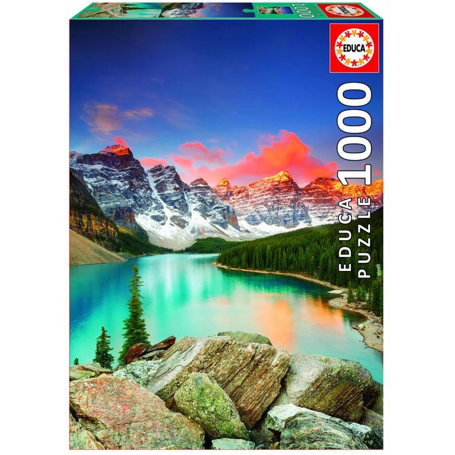 Lac de montagne au Canada - puzzle de 1000 pièces-1