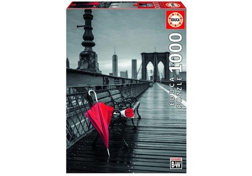 Rode Paraplu - 1000 stukjes