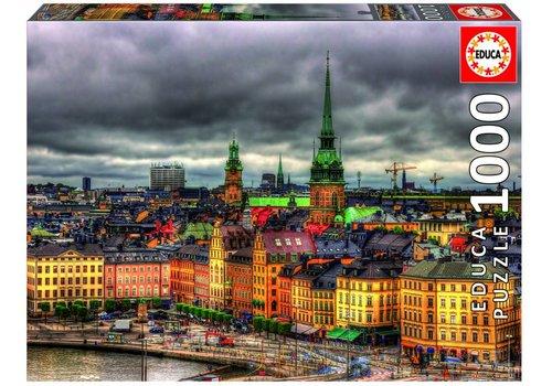 Zicht op Stockholm - 1000 stukjes