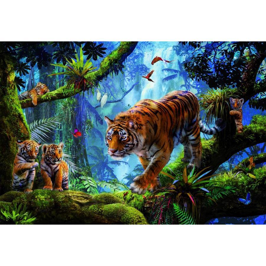 Tijgers in de bomen  - legpuzzel van 1000 stukjes-2