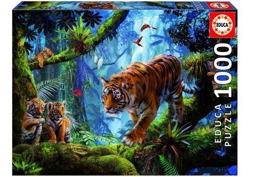 Tigres sur l'arbre - 1000 pièces