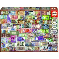thumb-Billets du monde entier - puzzle de 1000 pièces-1