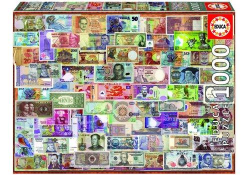 Bankbiljetten van de wereld - 1000 stukjes