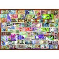 thumb-Billets du monde entier - puzzle de 1000 pièces-2