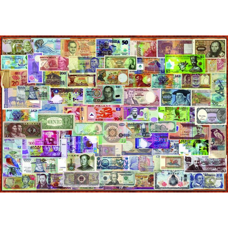 Billets du monde entier - puzzle de 1000 pièces-2