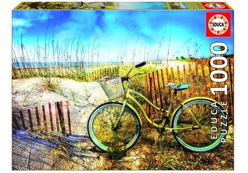 Bike in the dunes  - 1000 pieces