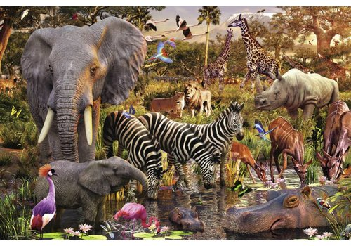 African animal world - 3000 pieces