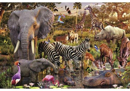 Afrikaanse dierenwereld - 3000 stukjes