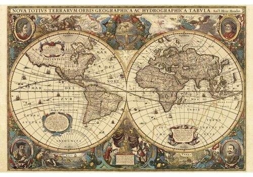 Antieke wereldkaart - 5000 stukjes