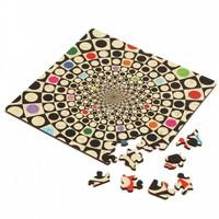 thumb-Puzzle Double Q-Fun - Puzzle Recto-Verso en Bois - 123 pièces-1