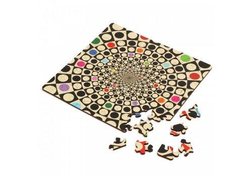 Curiosi Dubbelzijdige Puzzel in HOUT - Q-Fun - 123 stukjes
