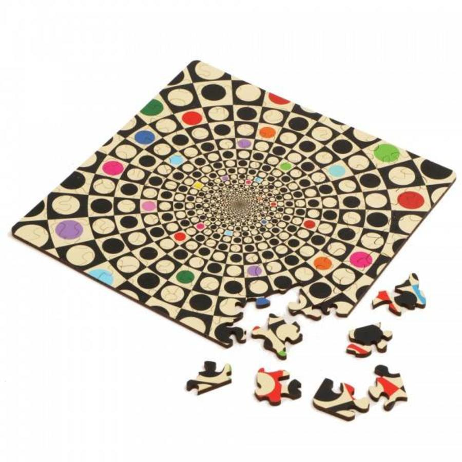 Puzzle Double Q-Fun - Puzzle Recto-Verso en Bois - 123 pièces-1