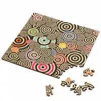 thumb-Puzzel Double Q-Mad - Dubbelzijdige puzzel in Hout - 123 stukjes-1