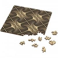 thumb-Puzzle Double Q-Glitter - Puzzle Recto-Verso en Bois - 123 pièces-1