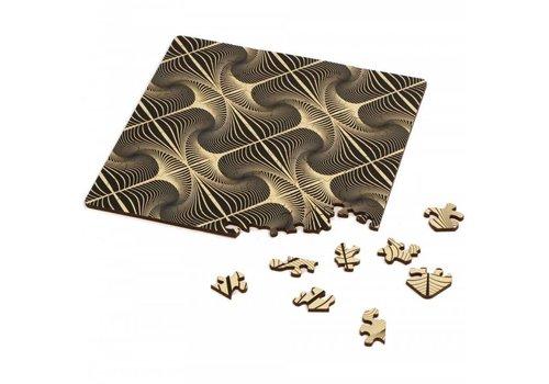 Curiosi Dubbelzijdige Puzzel in HOUT - Q-Glitter - 123 stukjes