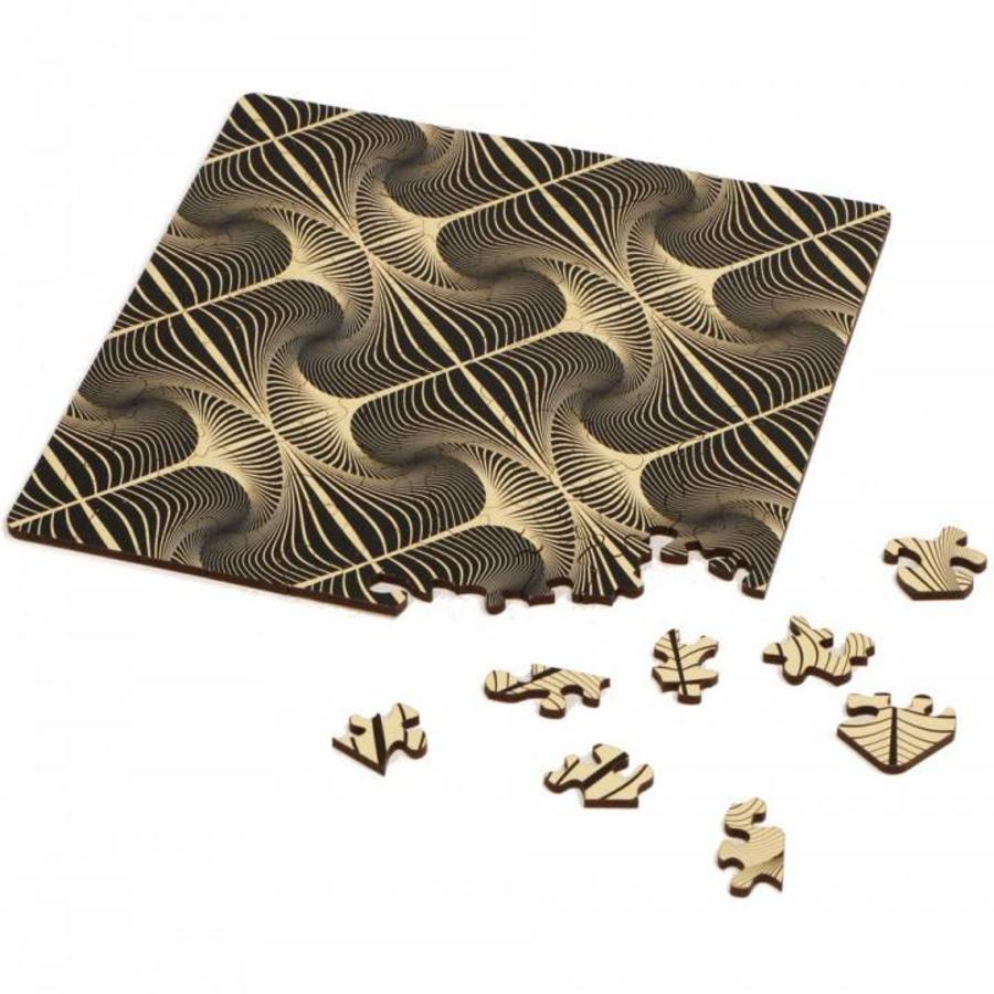 Puzzle Double Q-Glitter - Puzzle Recto-Verso en Bois - 123 pièces-1