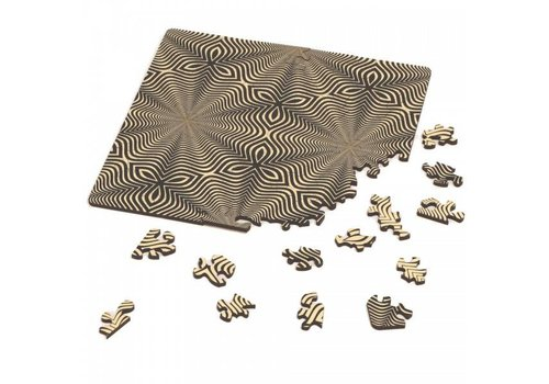 Double-sided Jigsawpuzzle Wood - Q-Flower - 123 pieces