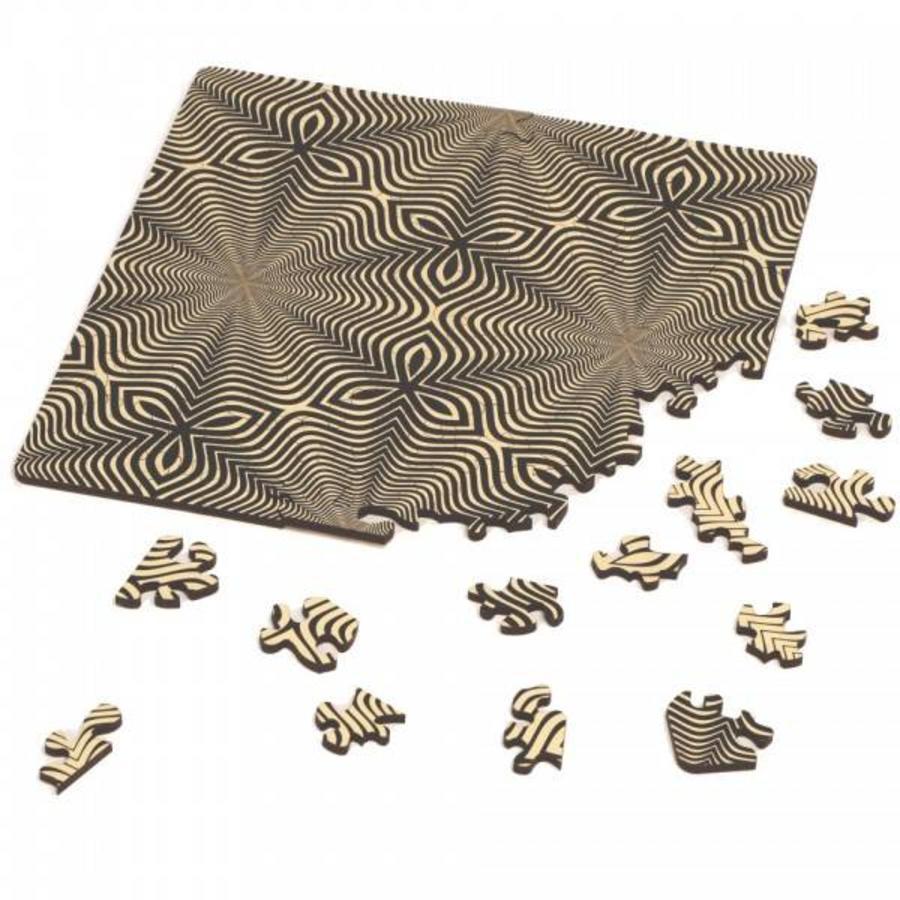 Puzzel Double Q-Flower - Dubbelzijdige puzzel in Hout - 123 stukjes-1
