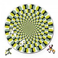 thumb-Puzzel Double Swing - Dubbelzijdige Ronde puzzel in Hout - 88 stukjes-1