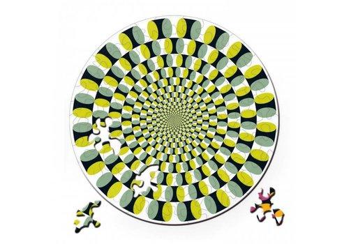 Curiosi Dubbelzijdige Puzzel in HOUT - Swing - 88 stukjes