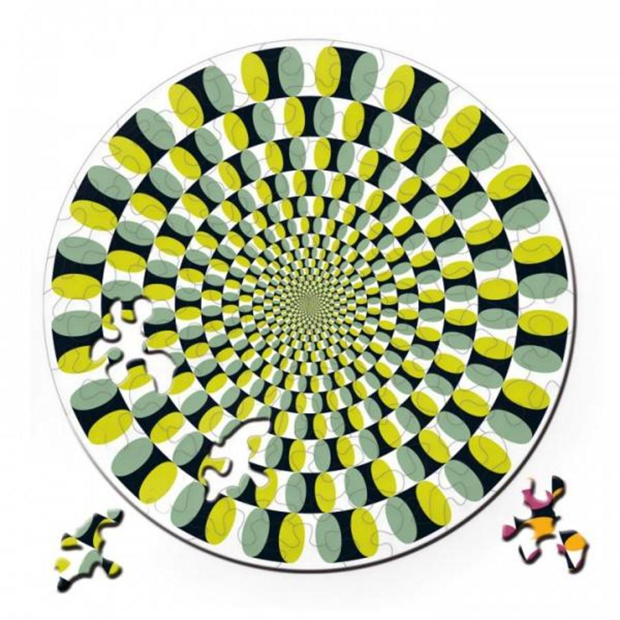 Puzzel Double Swing - Dubbelzijdige Ronde puzzel in Hout - 88 stukjes-1