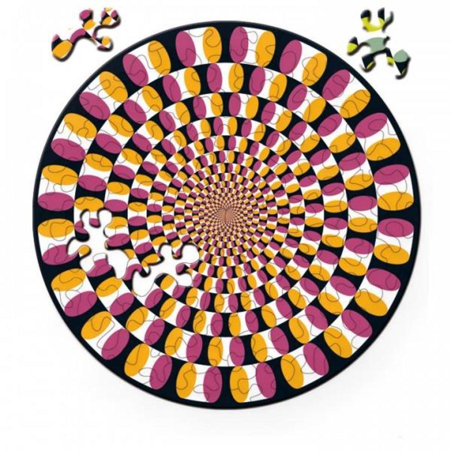 Puzzel Double Swing - Dubbelzijdige Ronde puzzel in Hout - 88 stukjes-2