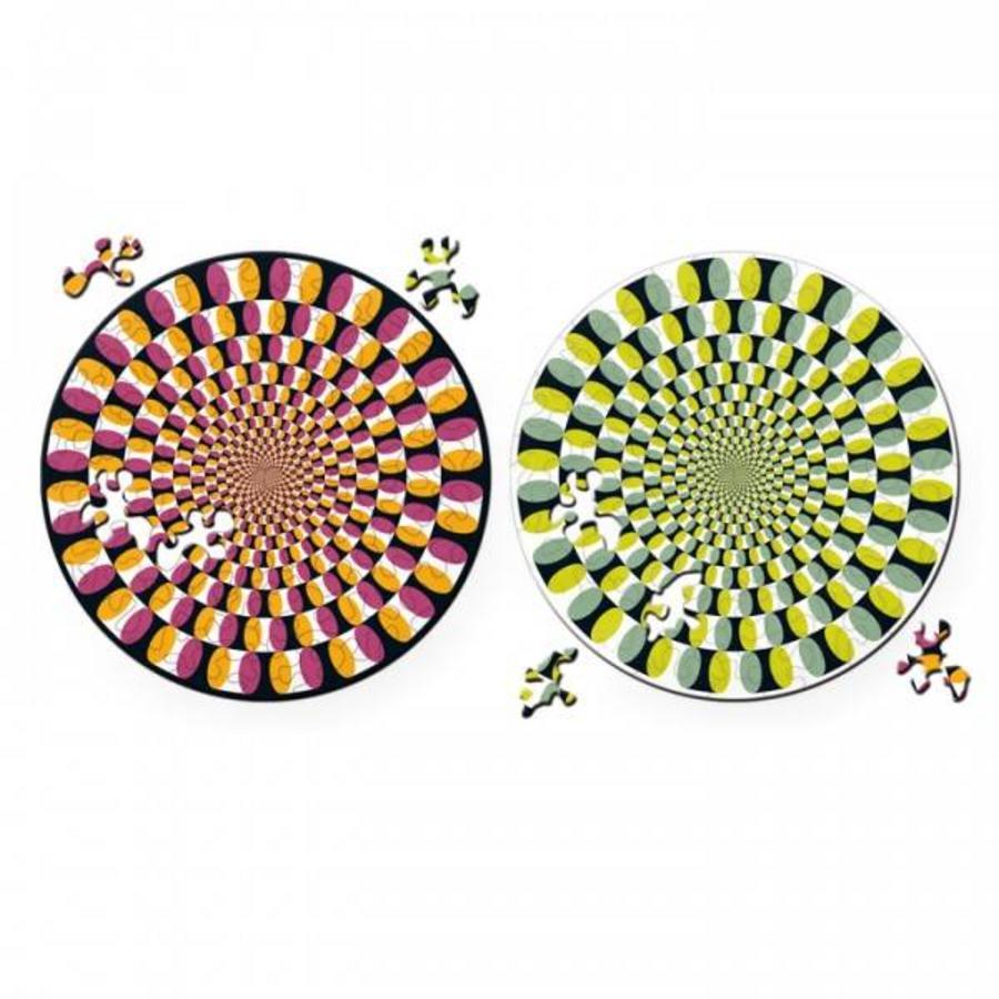 Puzzel Double Swing - Dubbelzijdige Ronde puzzel in Hout - 88 stukjes-4