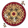 Curiosi Puzzel Double Rose - Dubbelzijdige Ronde puzzel in hout - 88 stukjes