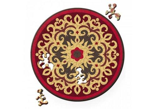 Dubbelzijdige Puzzel in HOUT - Rose - 88 stukjes