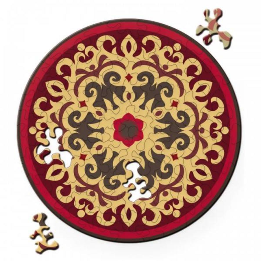 Puzzel Double Rose - Dubbelzijdige Ronde puzzel in hout - 88 stukjes-1