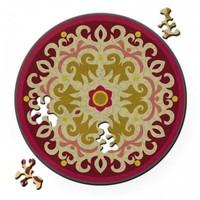thumb-Puzzel Double Rose - Dubbelzijdige Ronde puzzel in hout - 88 stukjes-2