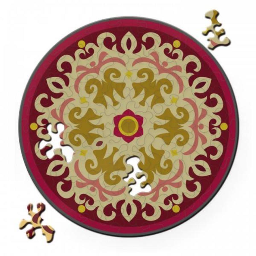 Puzzel Double Rose - Dubbelzijdige Ronde puzzel in hout - 88 stukjes-2
