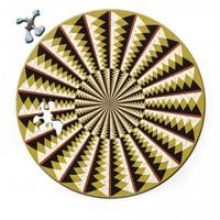 thumb-Puzzel Double Karussell - Dubbelzijdige Ronde puzzel in hout - 88 stukjes-1