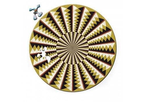 Curiosi Dubbelzijdige Puzzel in HOUT - Karussell - 88 stukjes