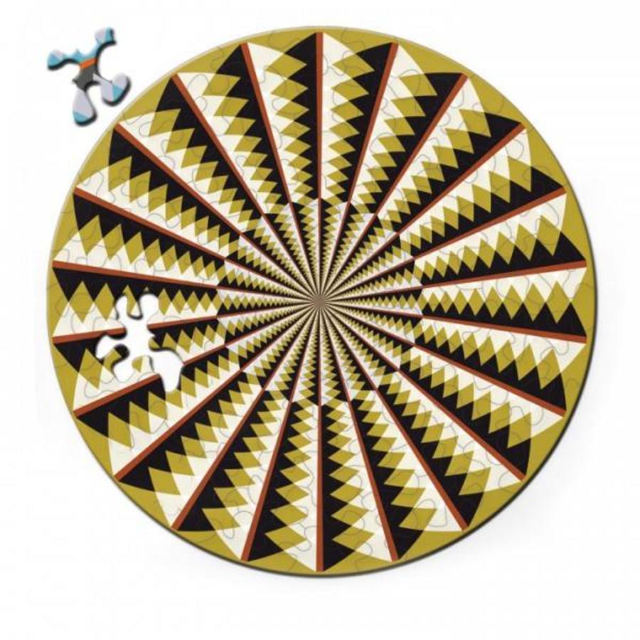 Puzzel Double Karussell - Dubbelzijdige Ronde puzzel in hout - 88 stukjes-1