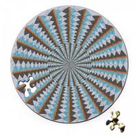 thumb-Puzzel Double Karussell - Dubbelzijdige Ronde puzzel in hout - 88 stukjes-2