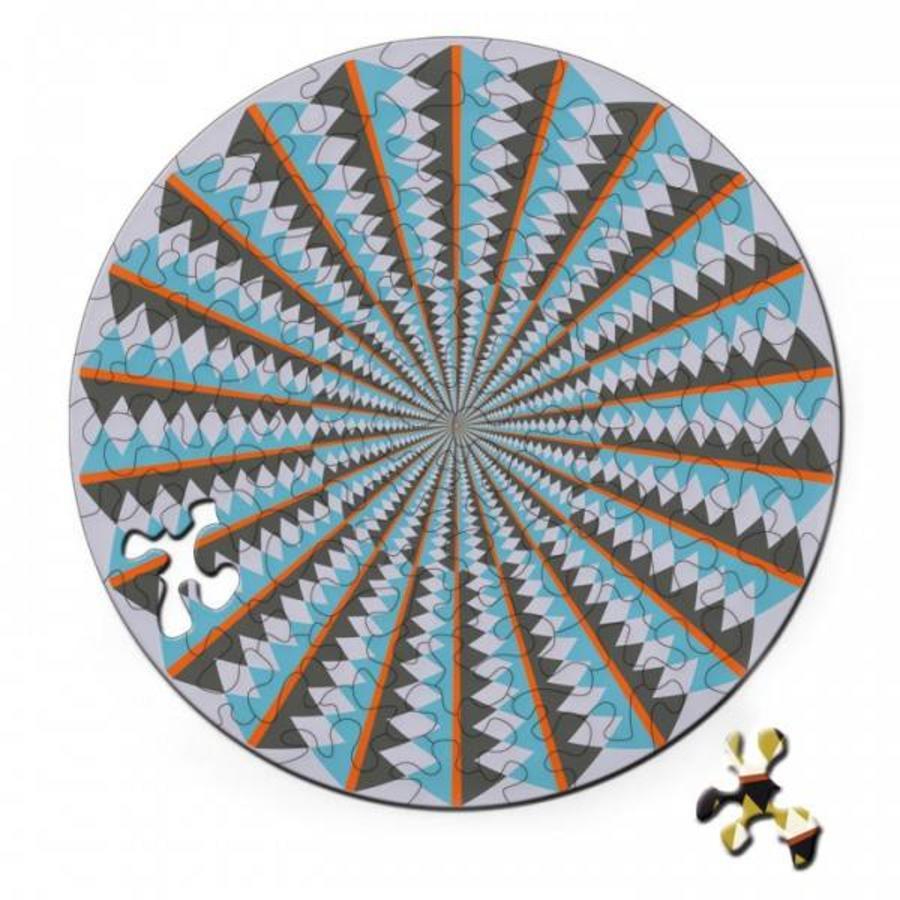 Puzzel Double Karussell - Dubbelzijdige Ronde puzzel in hout - 88 stukjes-2