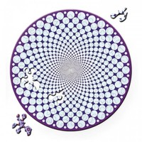 thumb-Puzzle Double Points - Double-sided Round Jigsawpuzzle Wood - 88 pieces-2