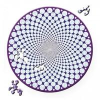 thumb-Puzzle Double Points - Puzzle Ronde Recto-Verso en Bois - 88 pièces-2
