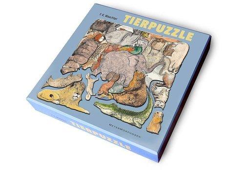 Unieke puzzel  met 33 dieren - 33 stukjes