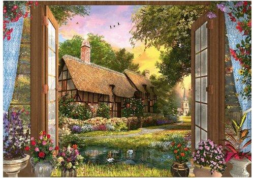 Zicht op de cottage - 1000 stukjes