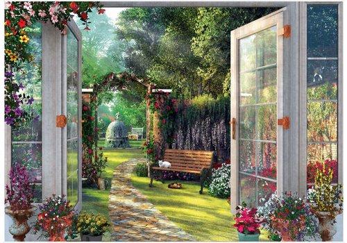 Zicht op de tuinen - 1000 stukjes