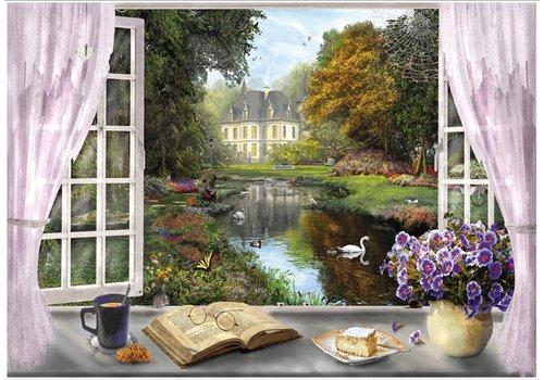 Vue des jardins de chateau - 1000 pièces