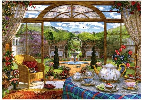 Vue depuis le jardin d'hiver - 1000 pièces