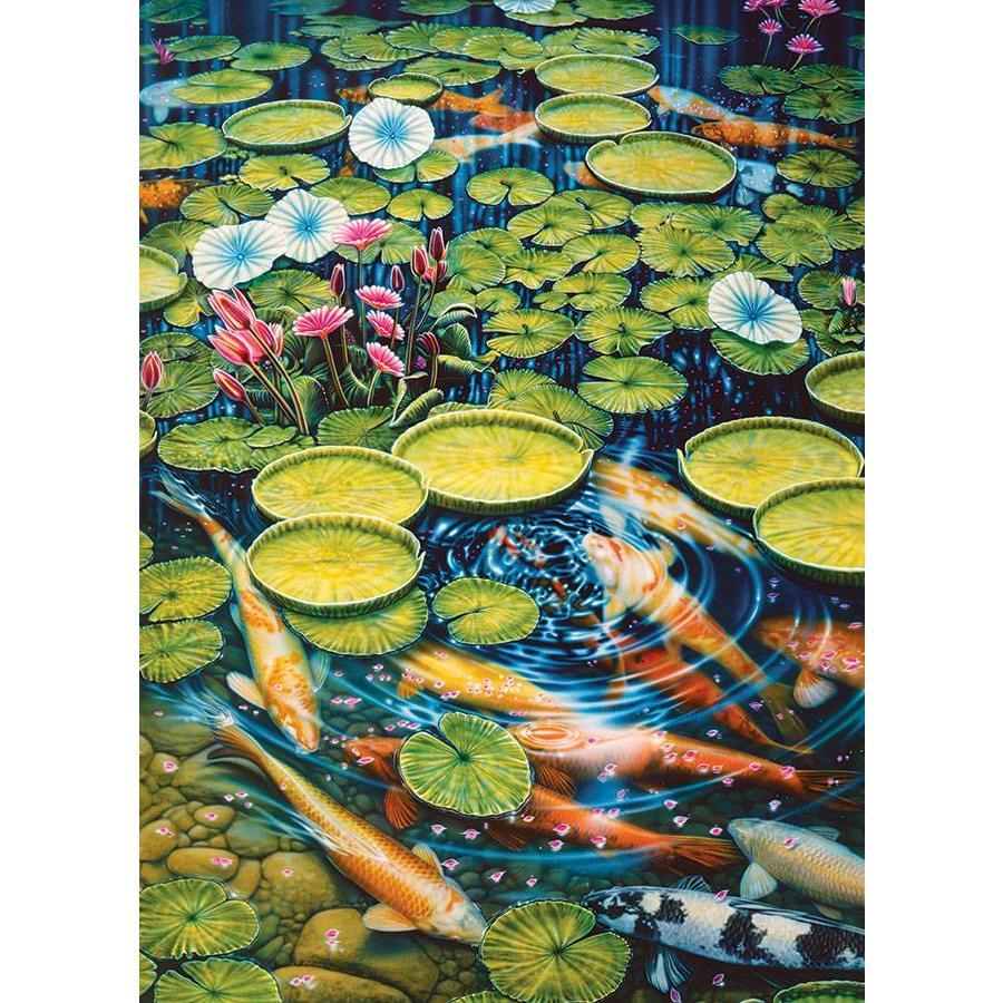 Koi Pond - puzzle of 1000 pieces-1