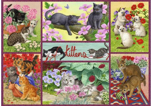 Playful Kittens  - 500 pieces
