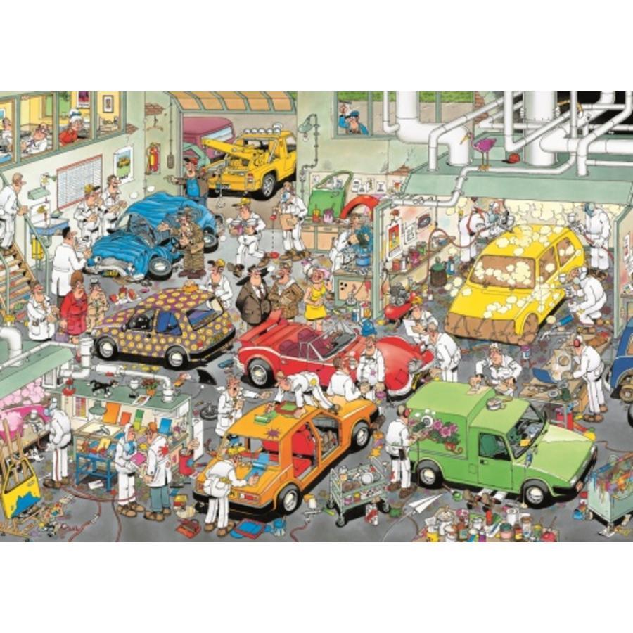 Dans l'atelier de peinture automobile - JVH - 500 pièces-1