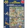 Jumbo Safari & Storm - Jan van Haasteren - 2x1000 stukjes