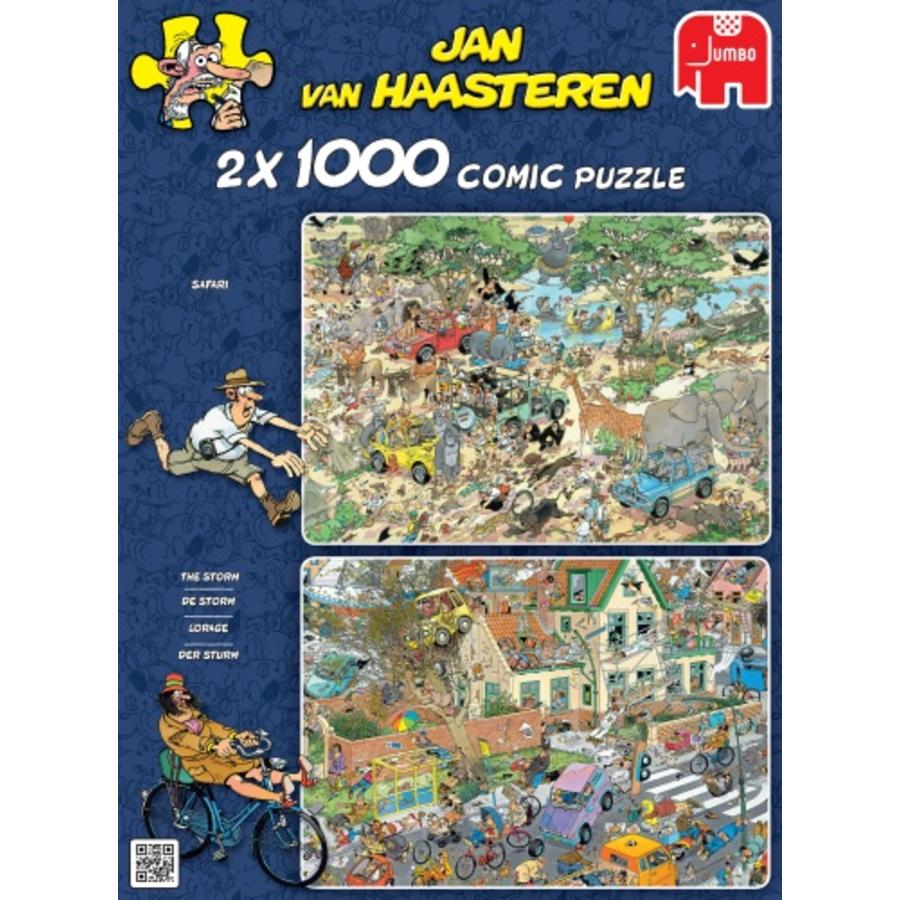 Safari & Storm - Jan van Haasteren - 2x1000 stukjes-1
