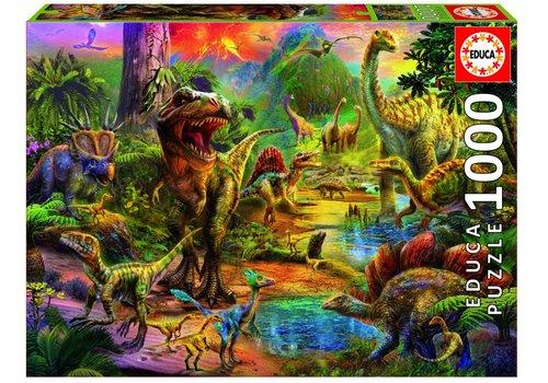 Het land van de dinosaurussen - 1000 stukjes